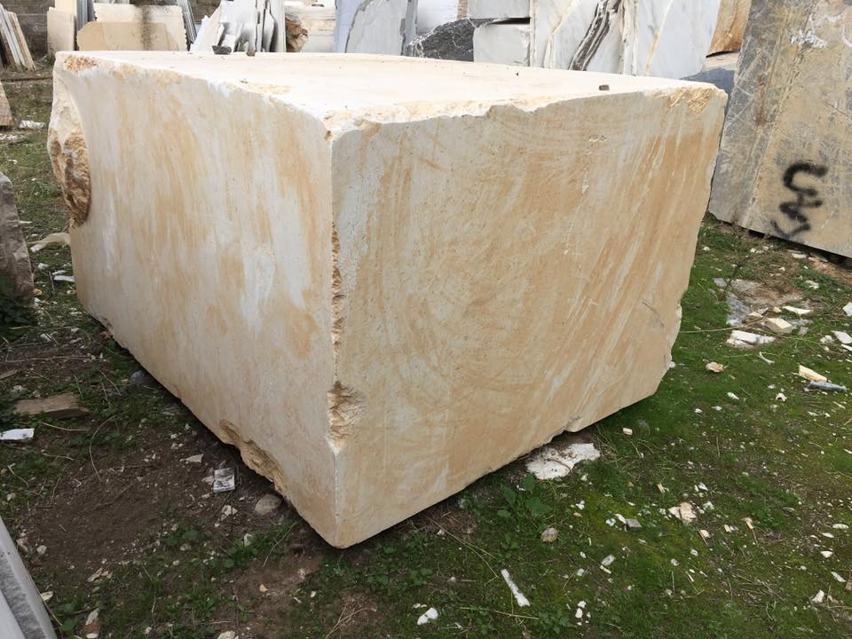 Perlato Beige Marble Natural Stone Blocks