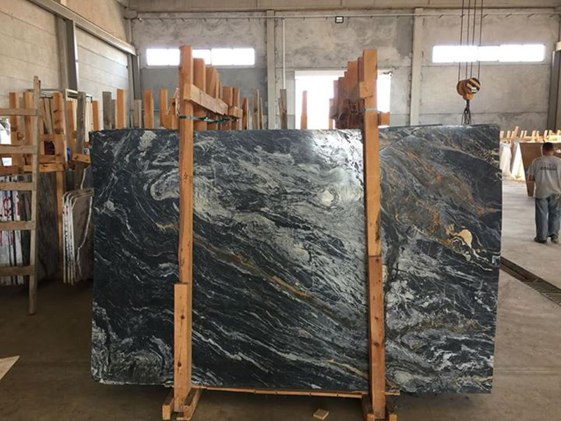 Picasso Marble Black Polished Marble Slabs