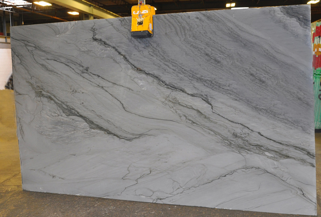 Picasso Silver Polished 3cm Grey Quartzite Stone Slabs