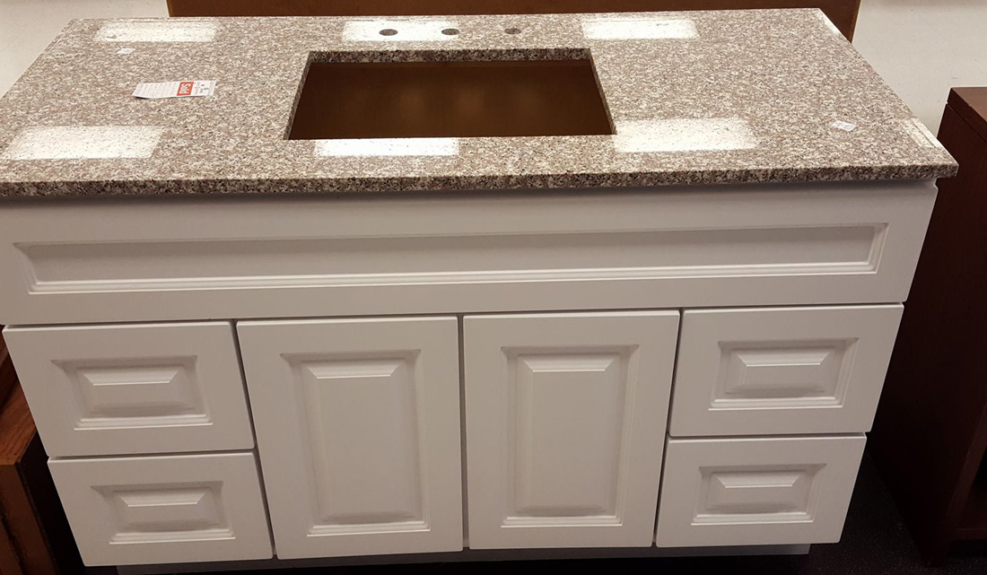 Pink Granite Polished Bathroom Vanity Tops