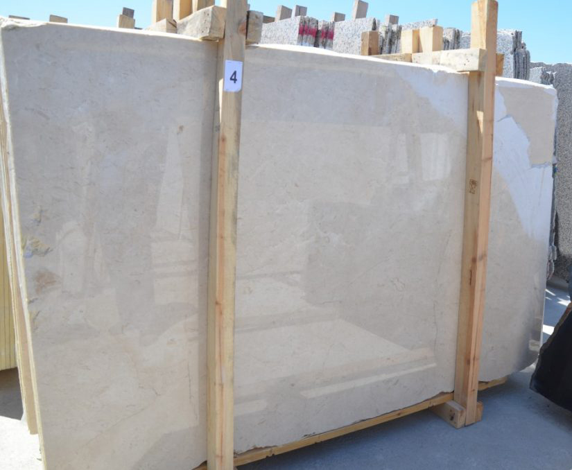 Plato Cream Slabs Polished Beige Marble Slabs Turkish Competitive Marble Slabs