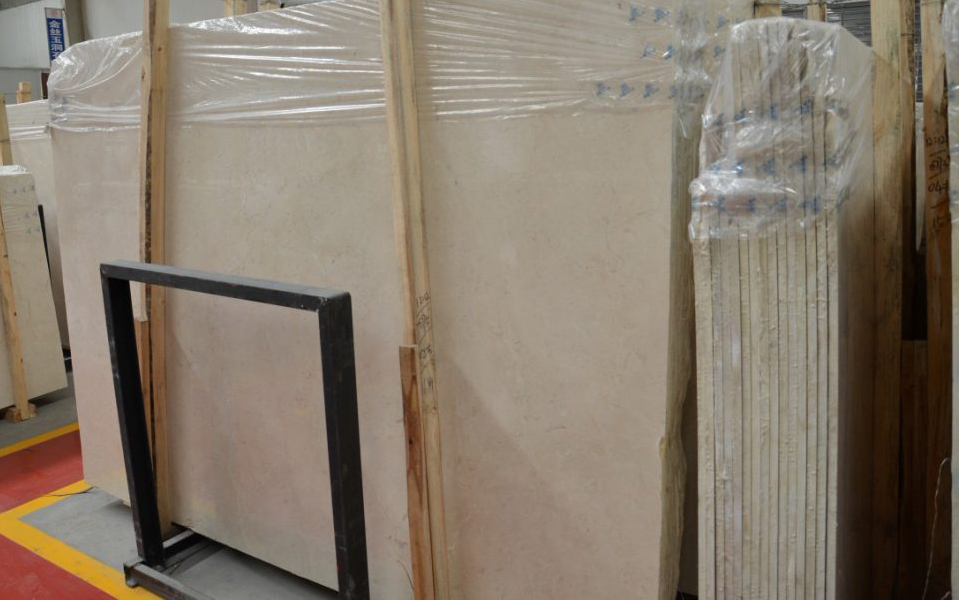 Plato Cream Slabs Turkish Beige Marble Stone Slabs with Competitive Price