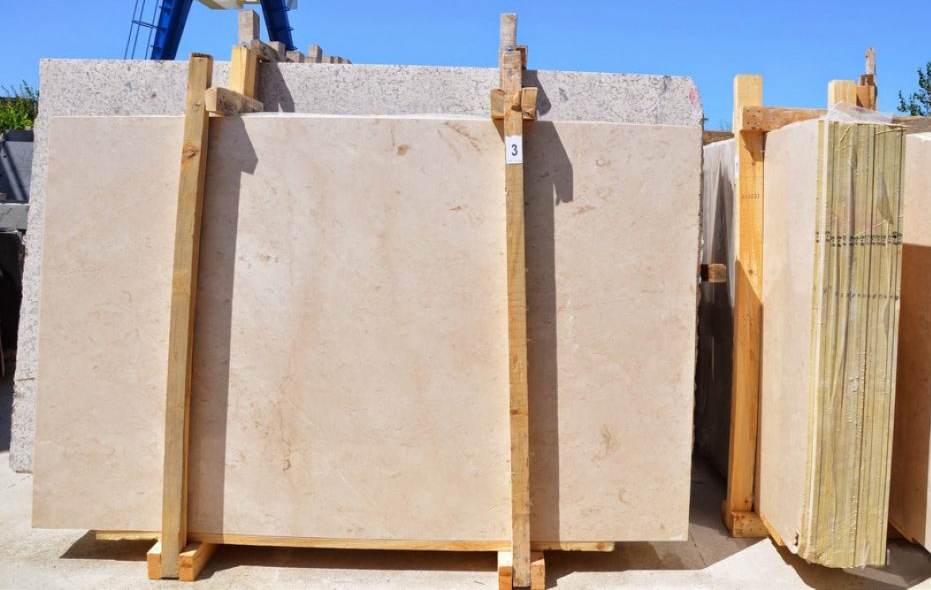 Plato Cream Slabs Turkish Marble Stone Slabs with Top Quality