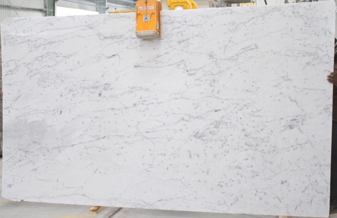 Polar White Marble Honed White Marble Slabs
