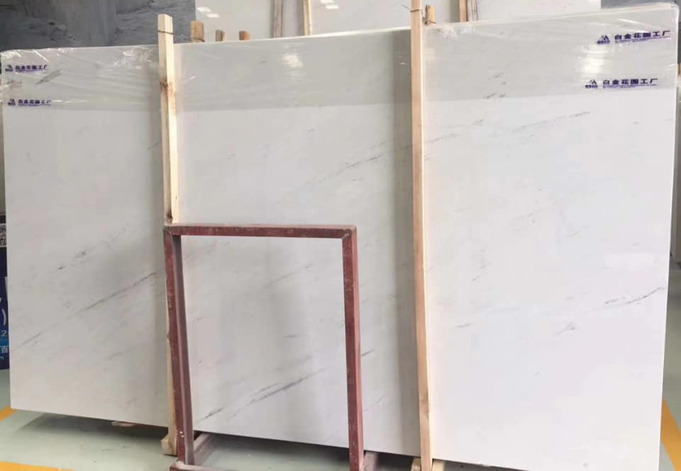 Polaris White Marble Slabs Polished White Stone Slabs