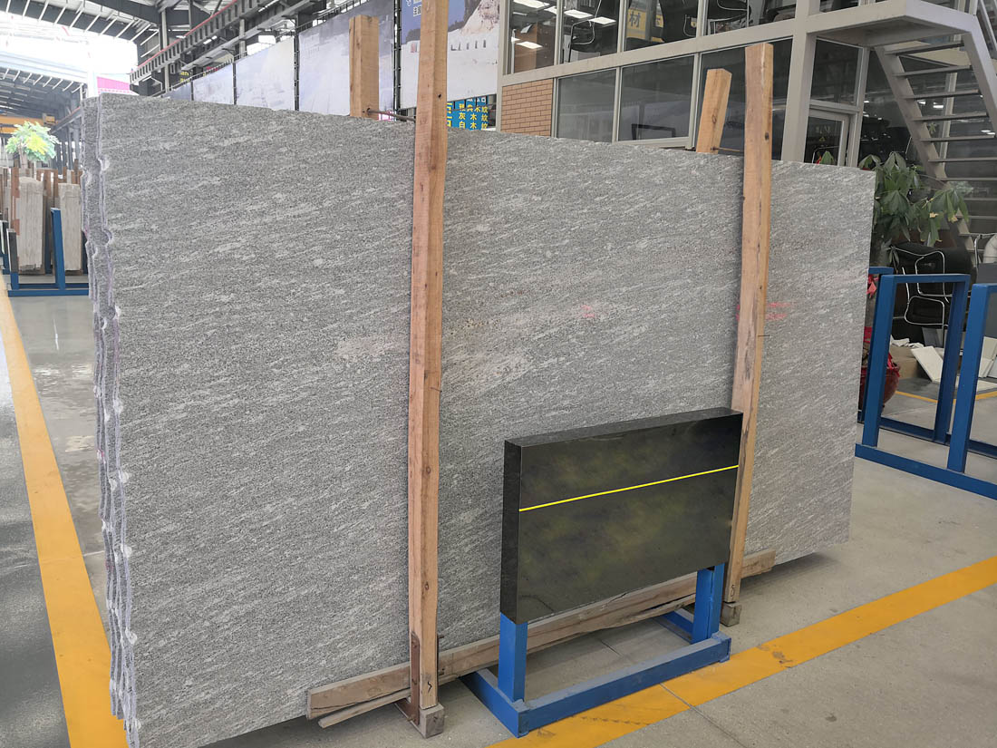 Polish Brushed Grey Soglio Valser Quartzite Slabs