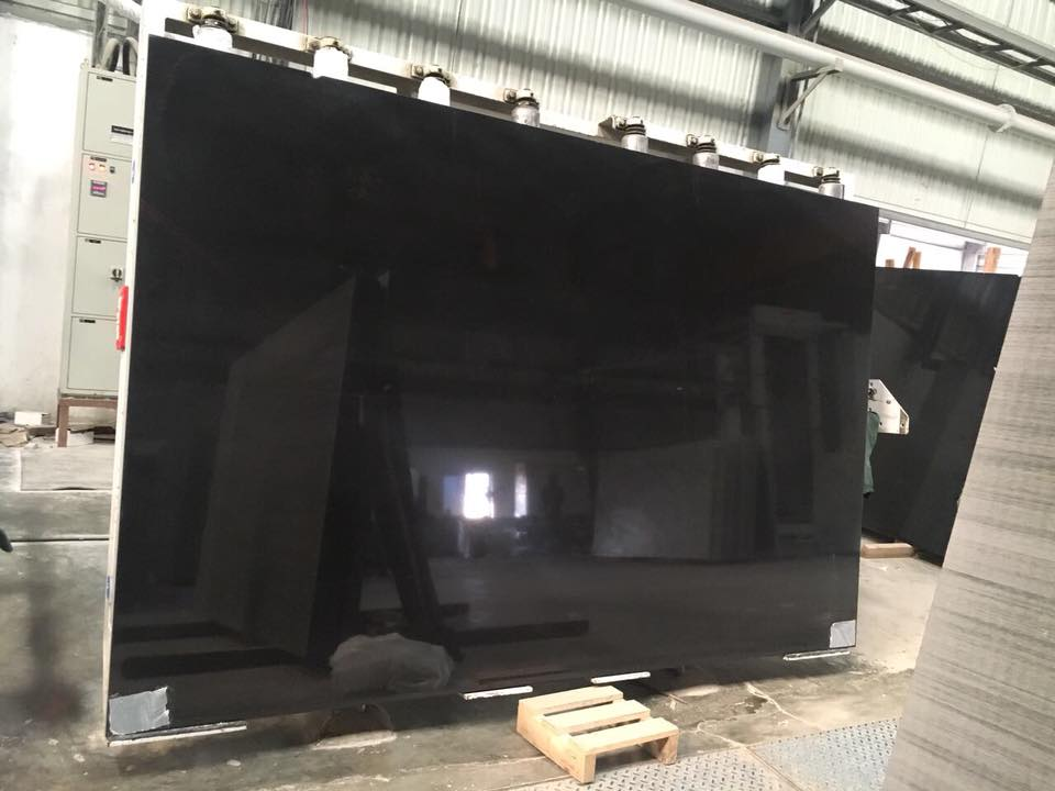 Polished Absolute Black Granite from India
