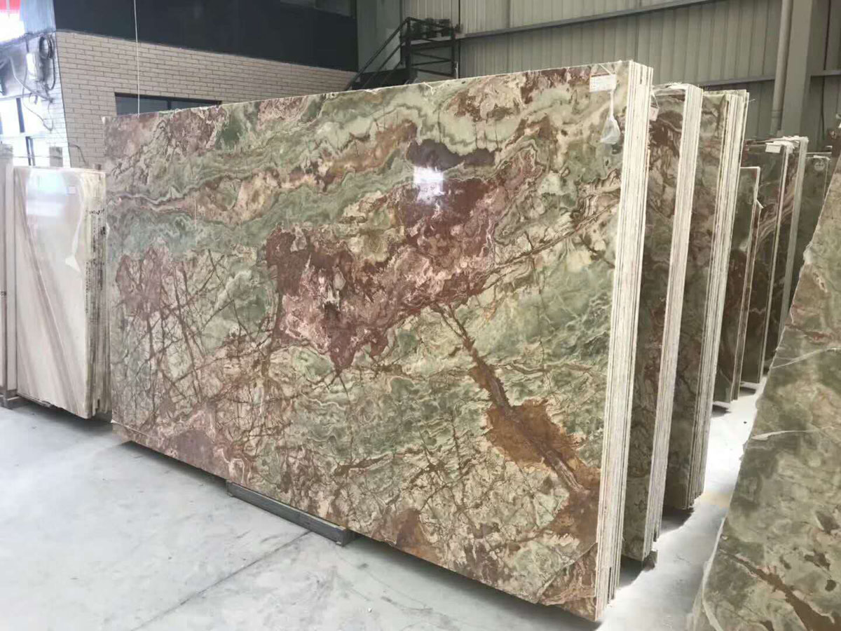 Polished Ancient Jade Onyx Slabs