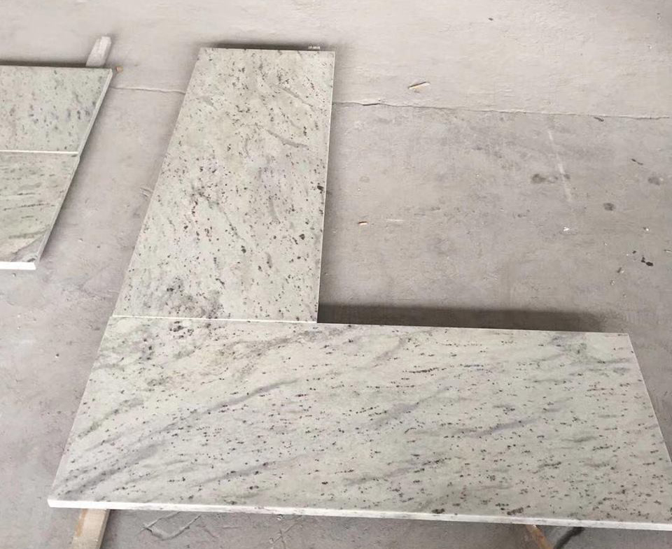 Polished Andrameda White Granite Countertops for Kitchen