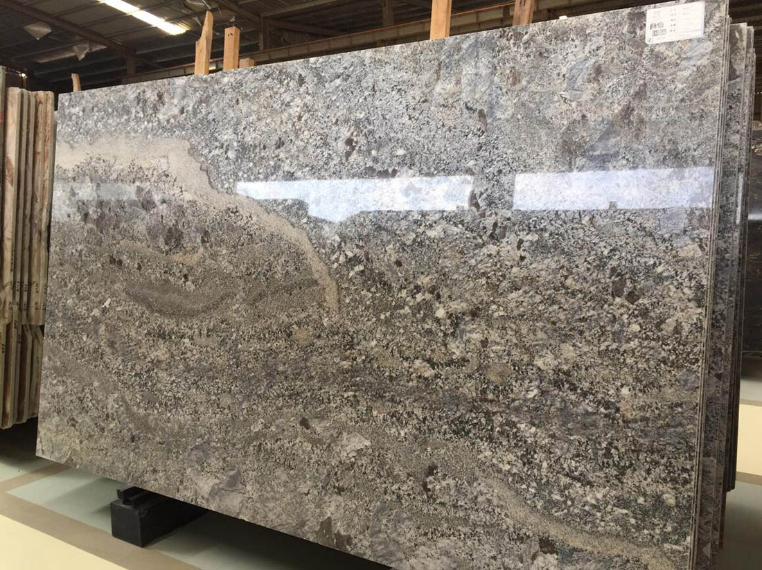 Polished Antico Blue Granite Slabs with Top Quality