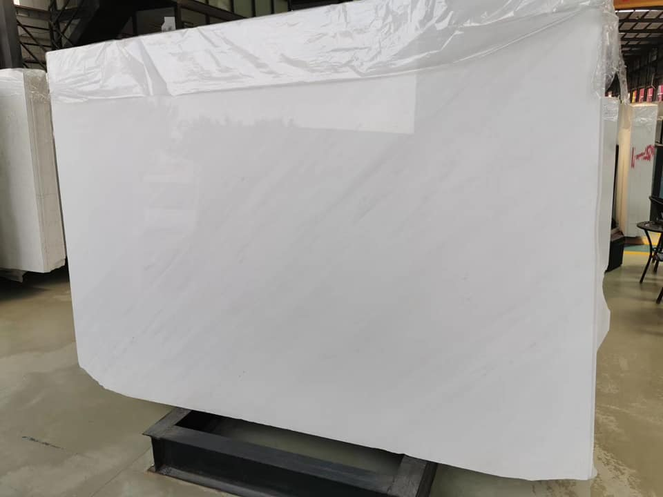 Polished Ariston White Marble Slab with Top Quality