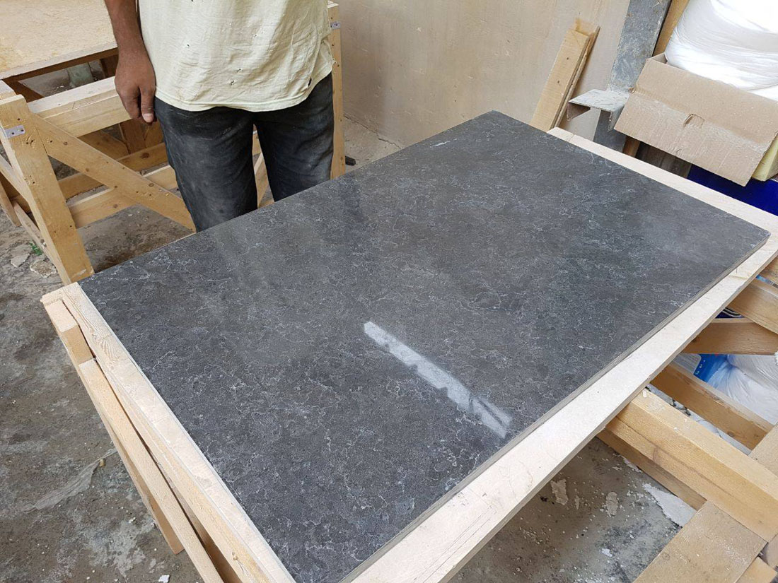 Polished Azul Grey Slabs and Tiles from Egypt