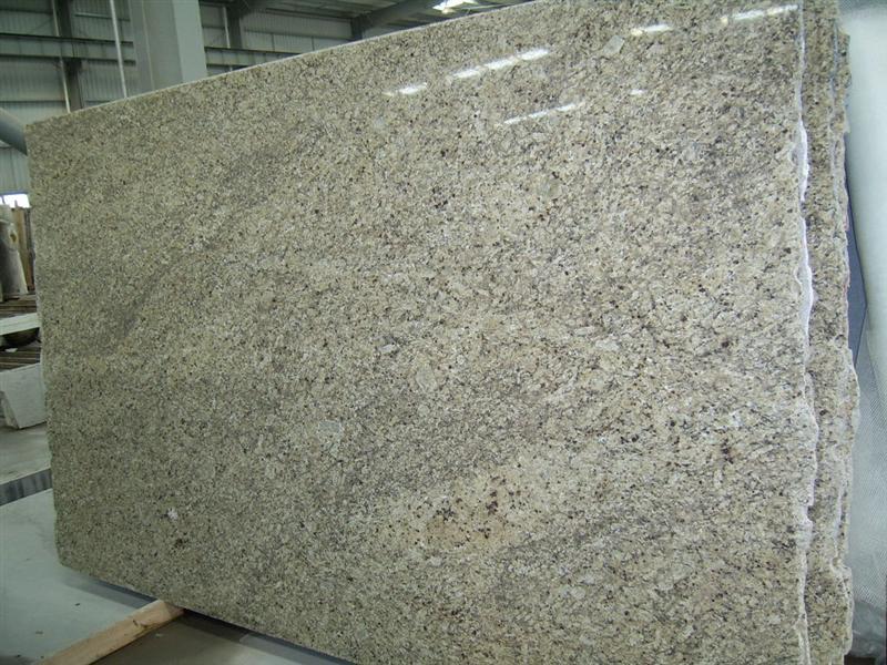 Polished Beige Granite Slabs for Kitchen Countertops