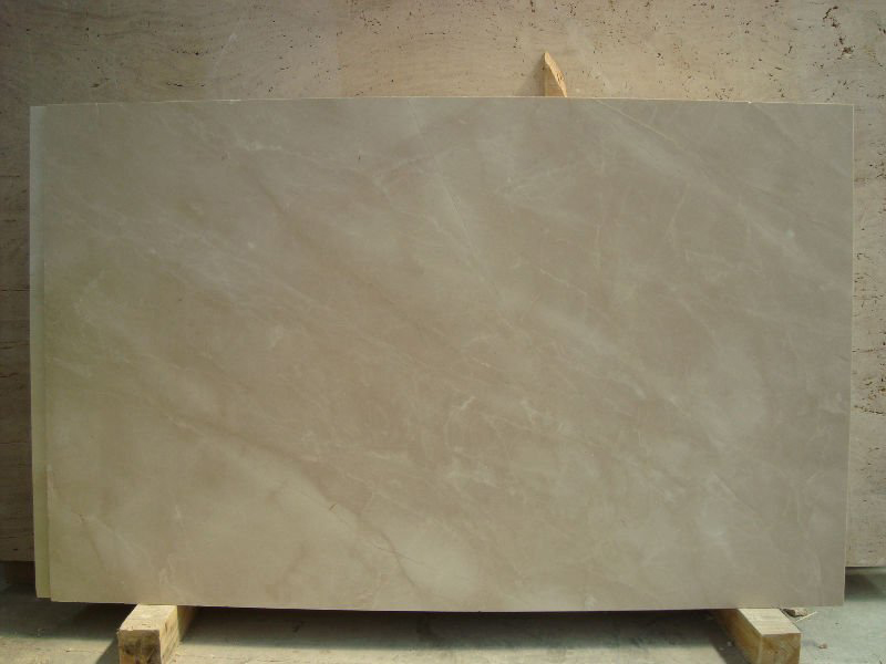 Polished Beige Marble Slab