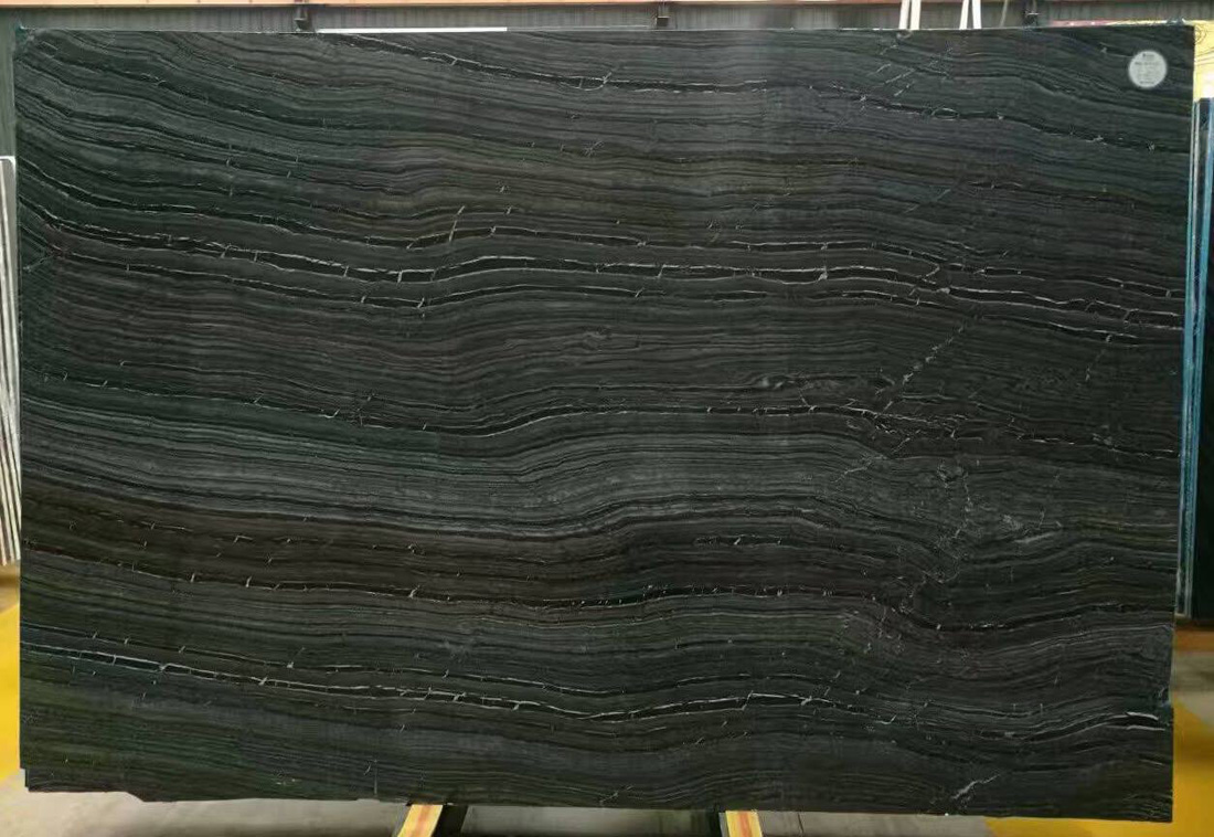 Polished Black Forest Marble Slabs Chinese Black Slabs