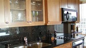 Polished Black Galaxy Granite Kitchen Countertops