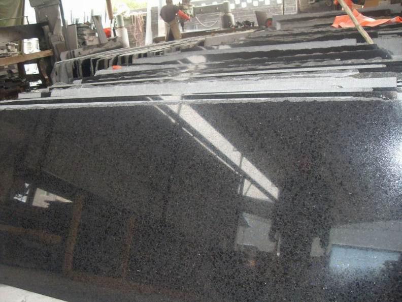 Polished Black Granite G684 Granite Slab