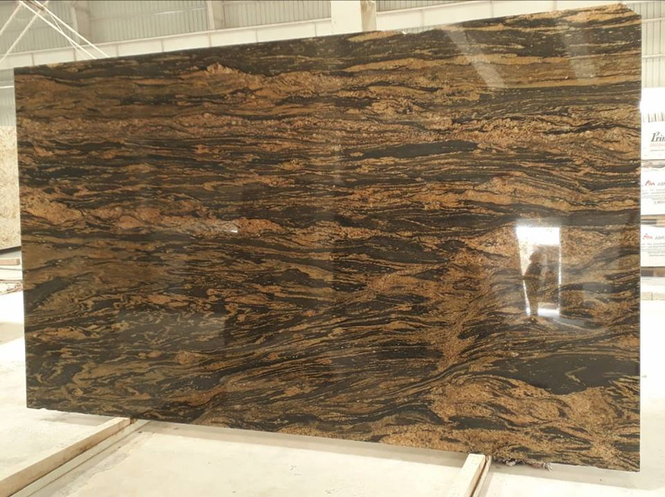 Polished Black Paradiso Granite Slabs Indian Top Quality Slabs
