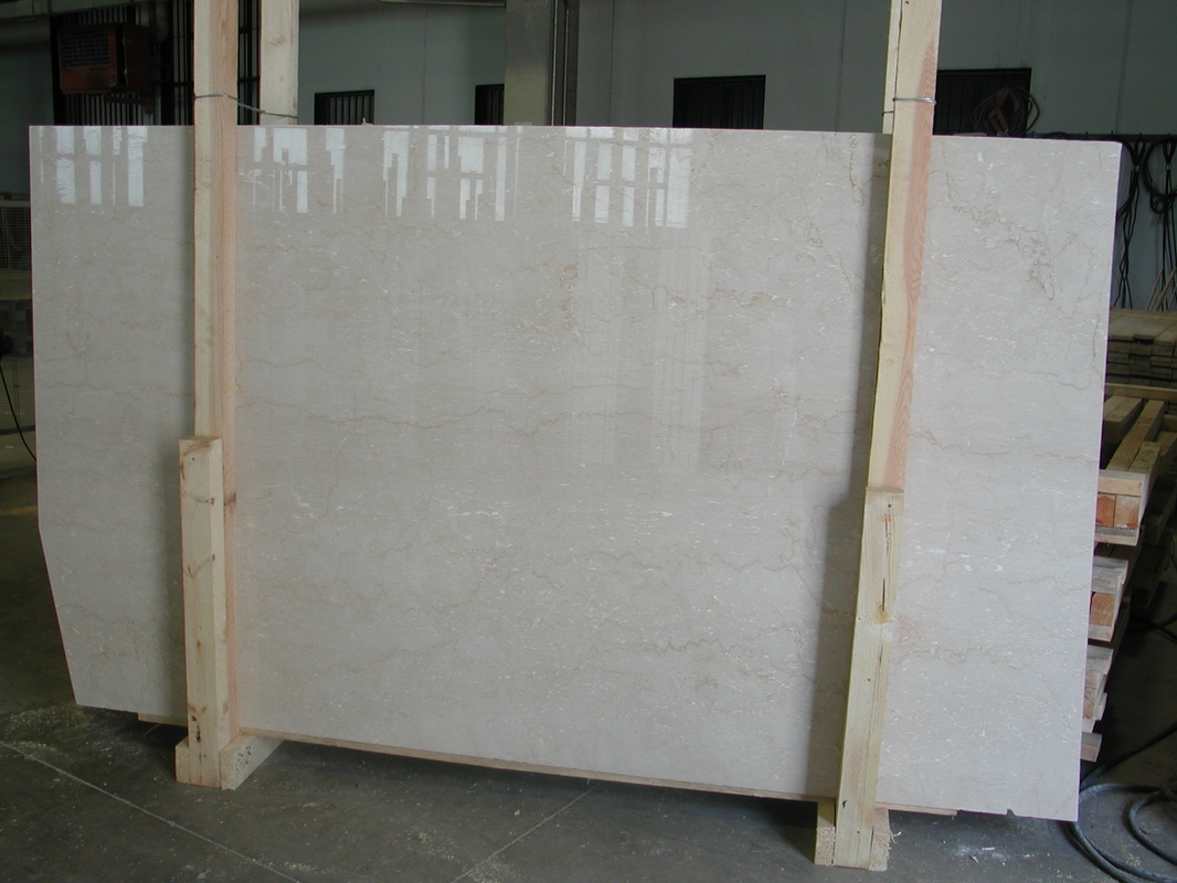 Polished Botticino Classico Marble Slabs Italian Beige Stone Slabs