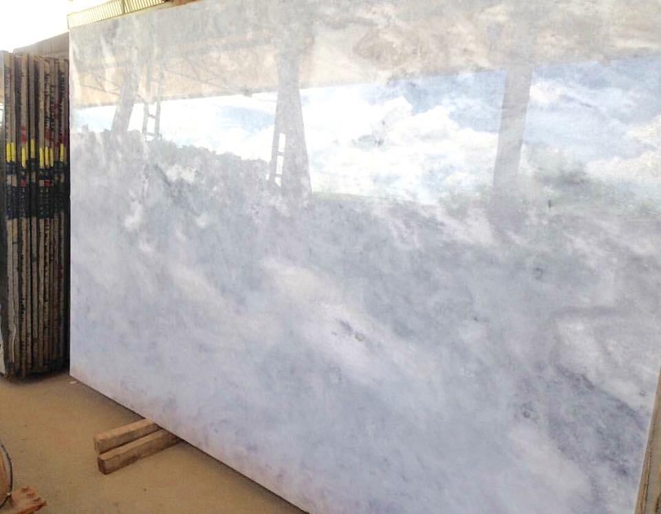 Polished Brazilian Iceberg White Marble Slabs