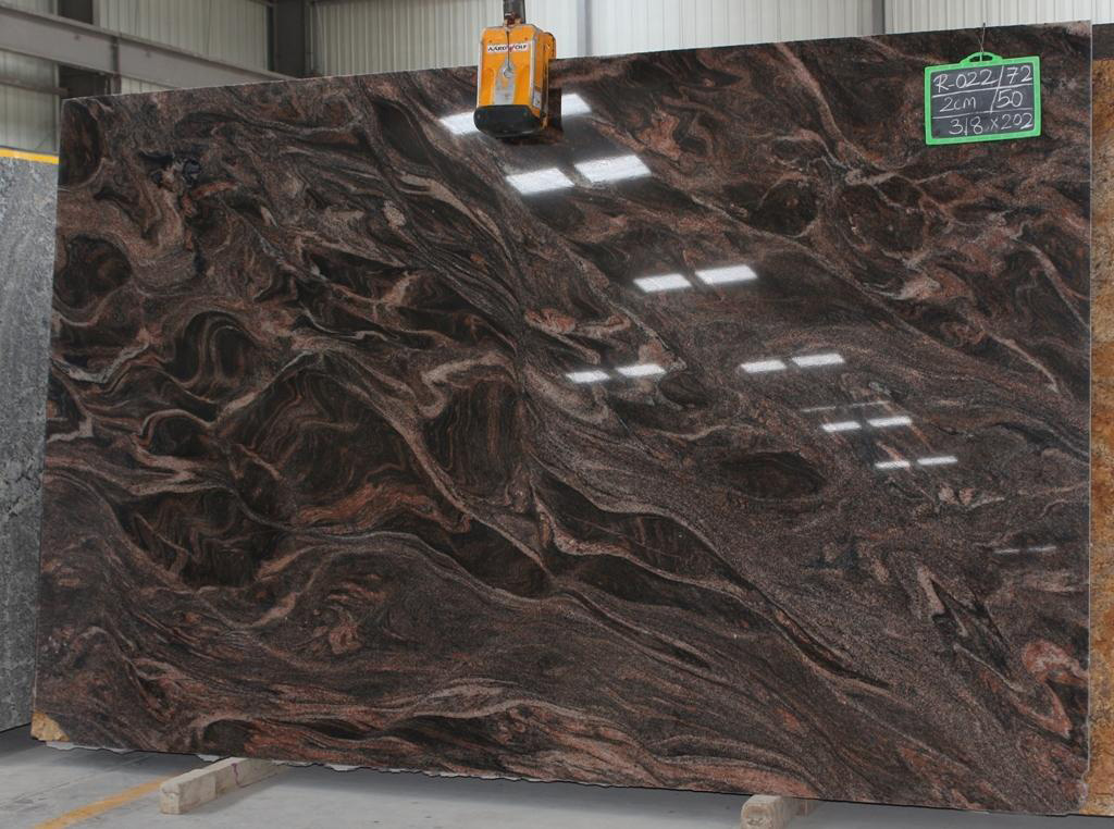 Polished Brown Fantastico Granite Slabs