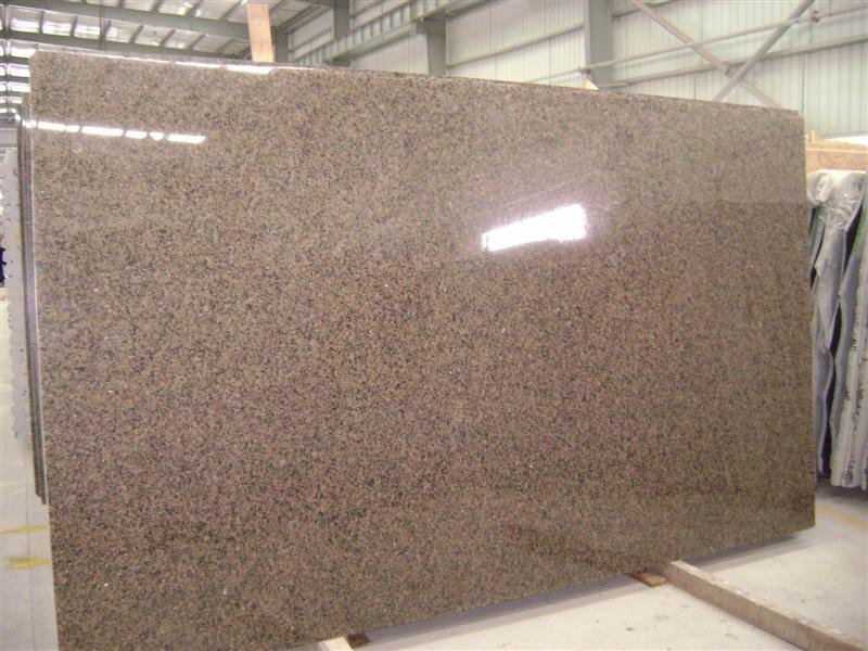 Polished Brown Granite Slabs for Countertops