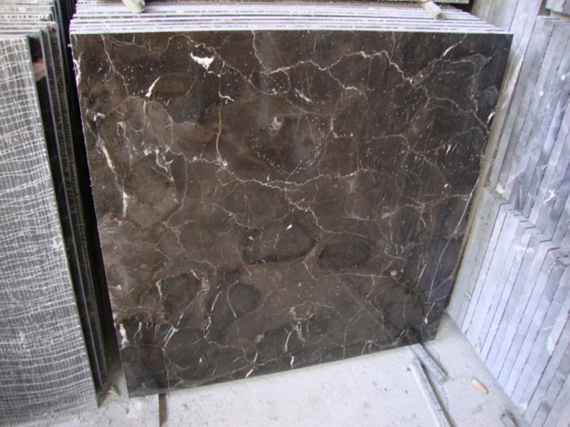 Polished Brown Marble Dark Emperador Marble Tiles