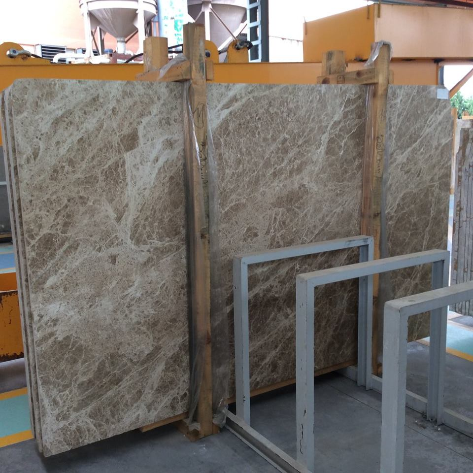 Polished Brown Marble Slabs Light Emperador Slabs
