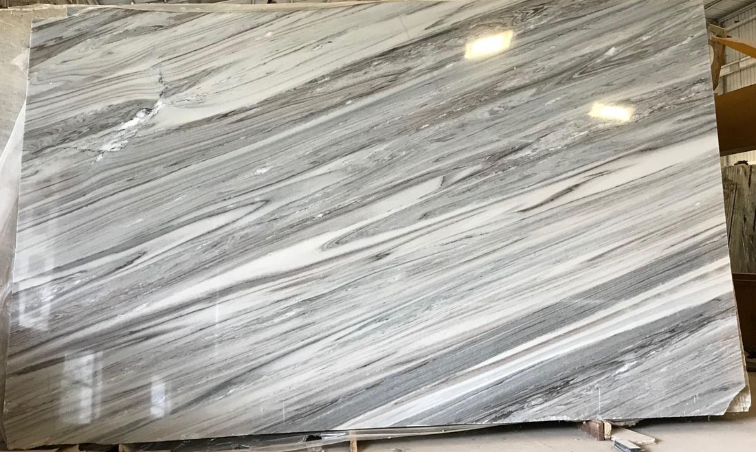 Polished Bruno White Marble Slabs