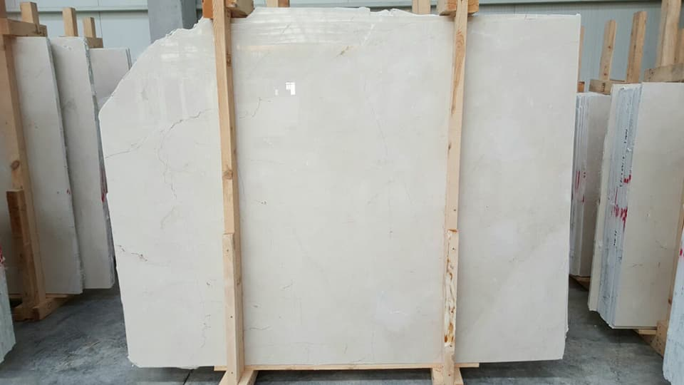 Polished Burdur Light Beige Marble Slabs