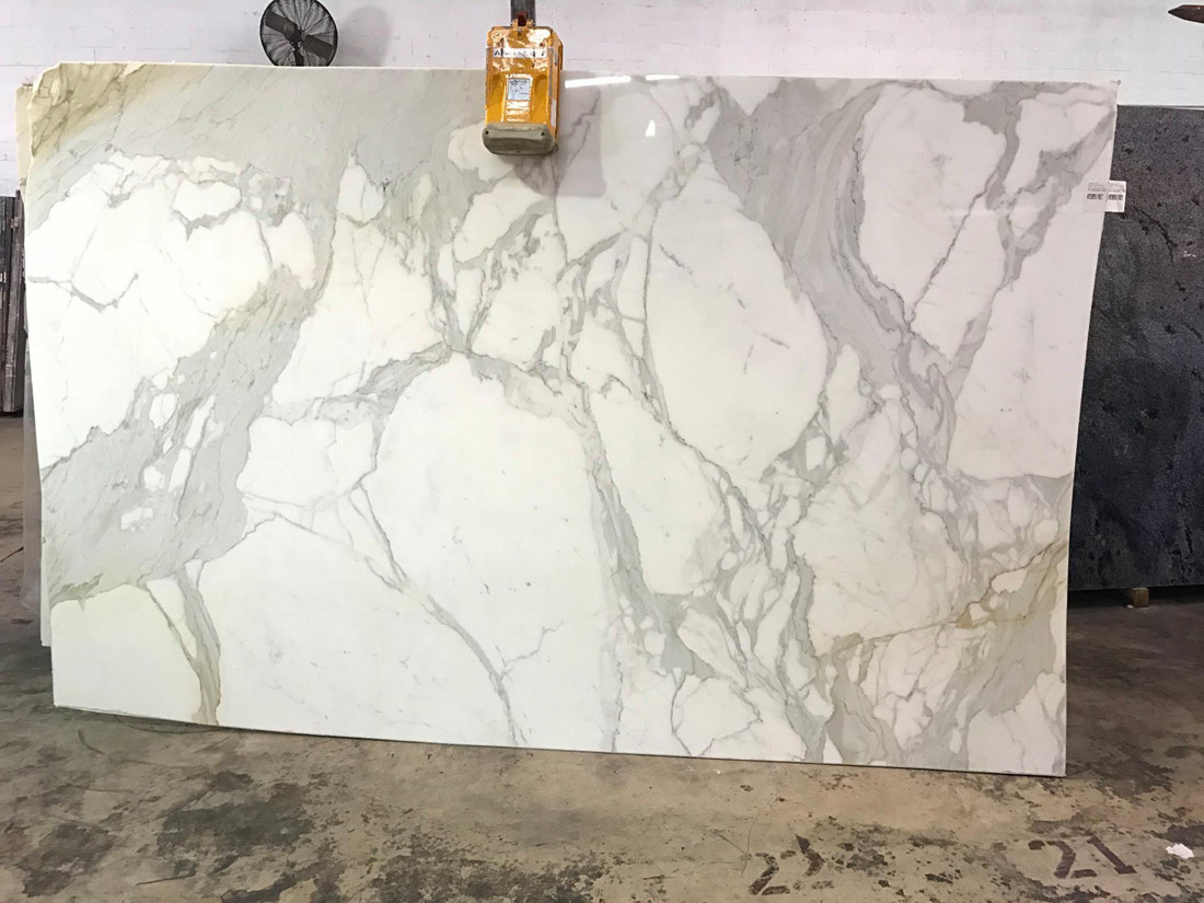 Polished Calacatta Gold Marble White Marble Slabs