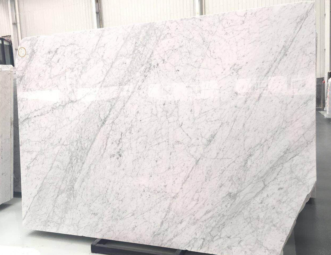 Polished Carrara Marble Slabs with Top Quality