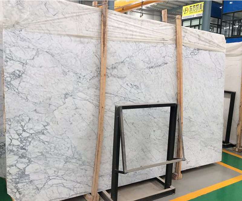 Polished Carrara White Marble Slabs with Top Quality