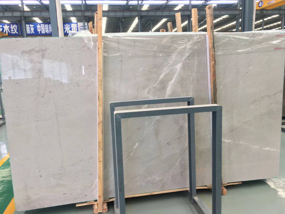 Polished Castle Gray Marble Slabs for Kitchen Countertops