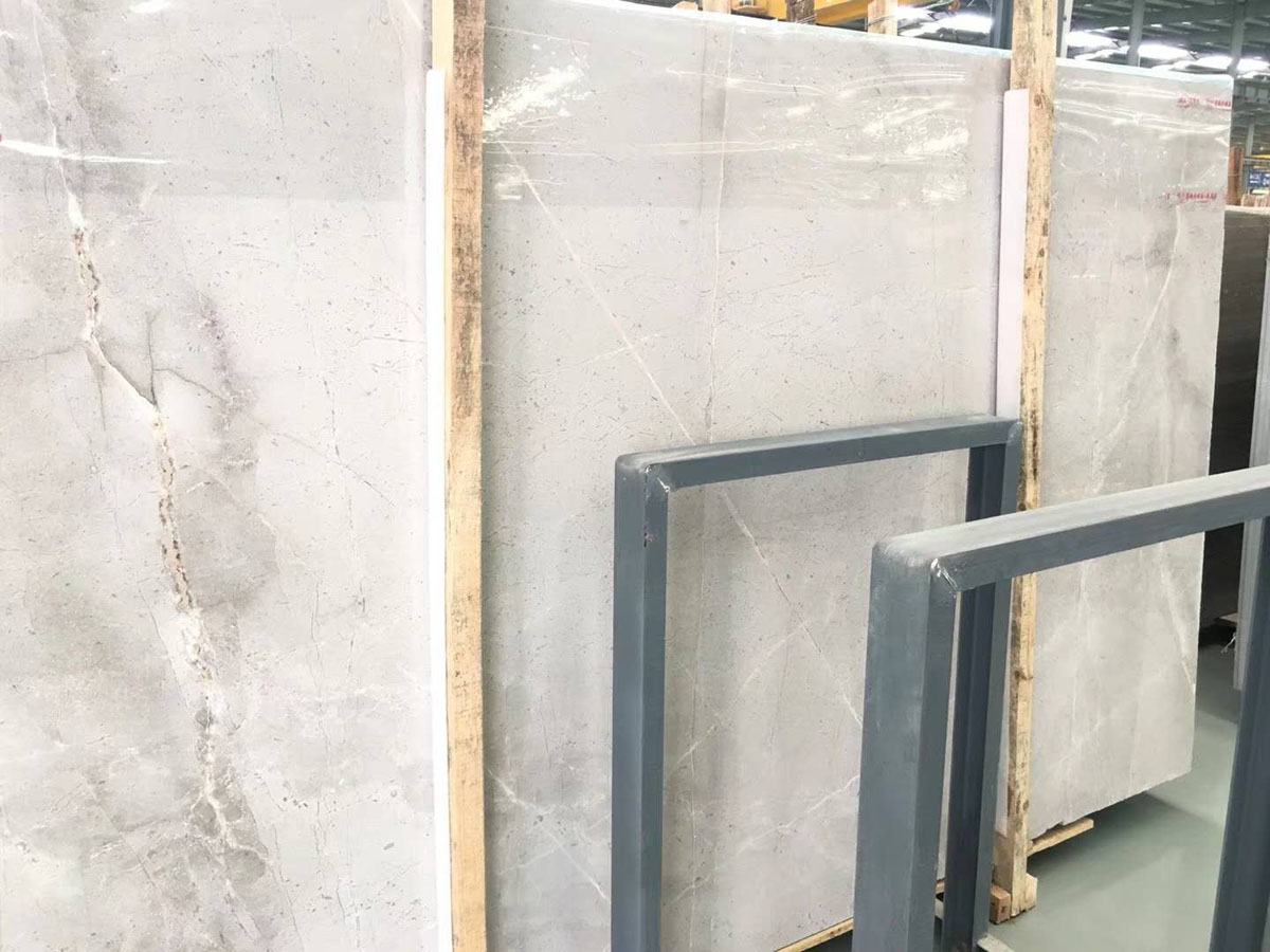 Polished Castle Gray Marble Slabs
