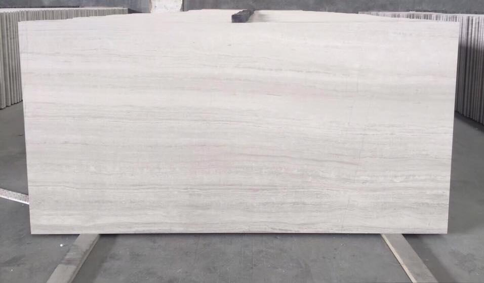 Polished Chinese Stone Tiles Wooden White Marble Flooring Tiles