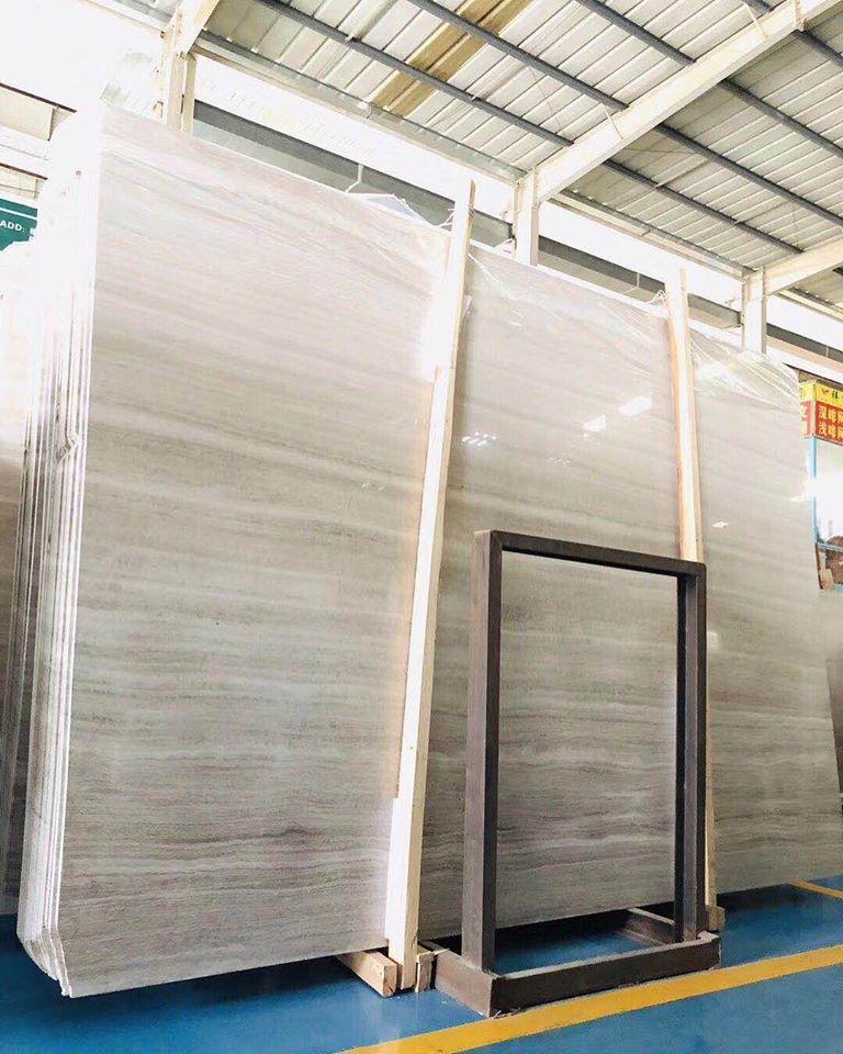 Polished Chinese White Marble Slabs White Wood Slabs
