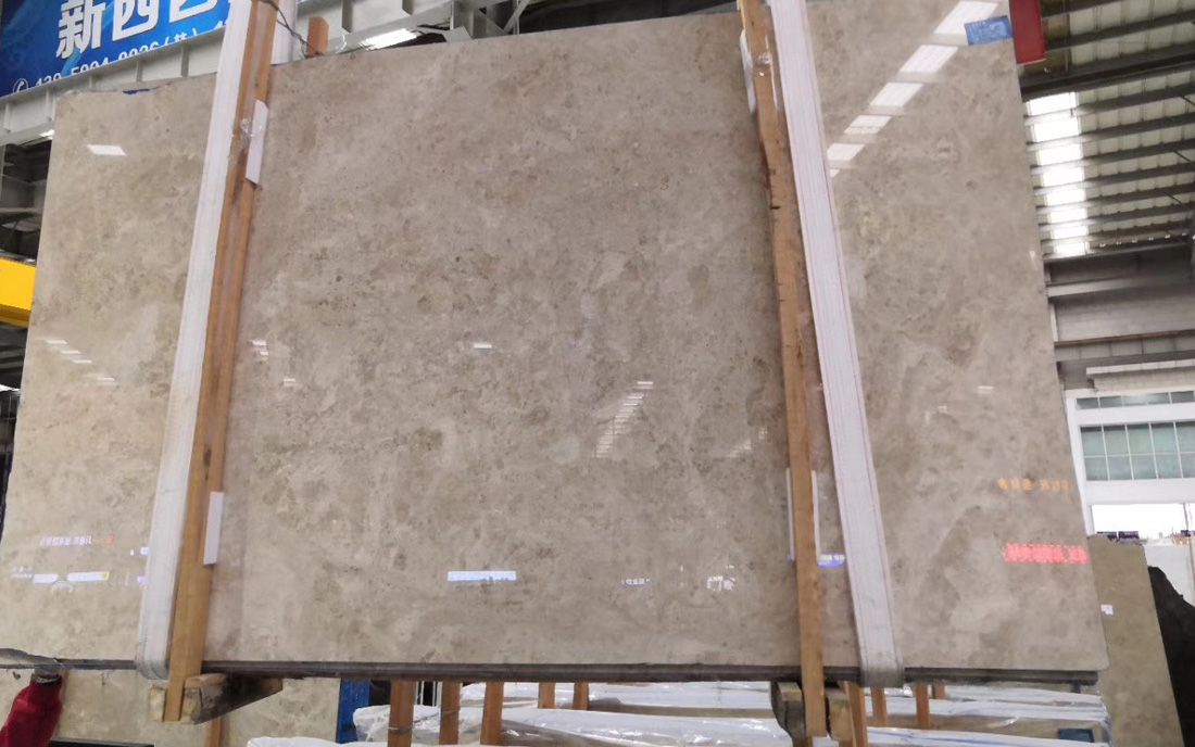 Polished Classico Antique Beige Giallo Antico Marble Slab