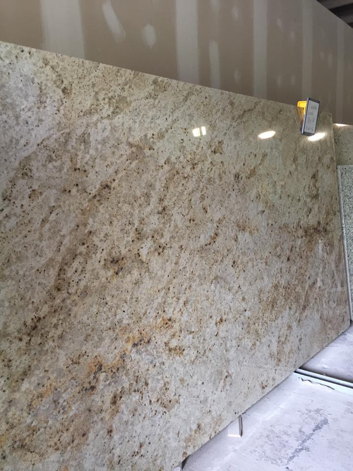 Polished Colonial Gold Beige Granite Slabs