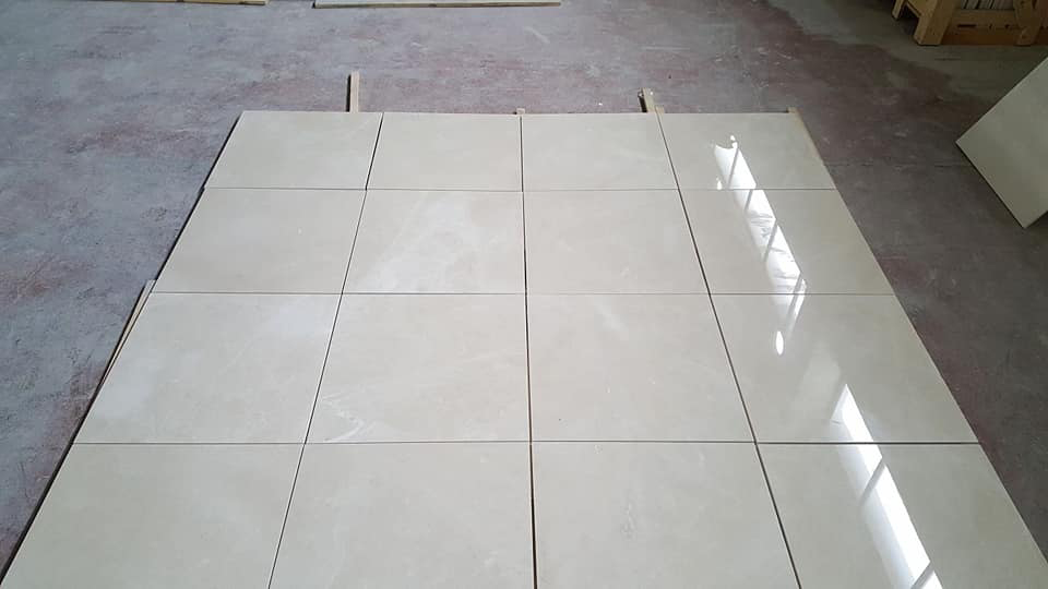Polished Crema Kamra Tiles from Turkey Supplier