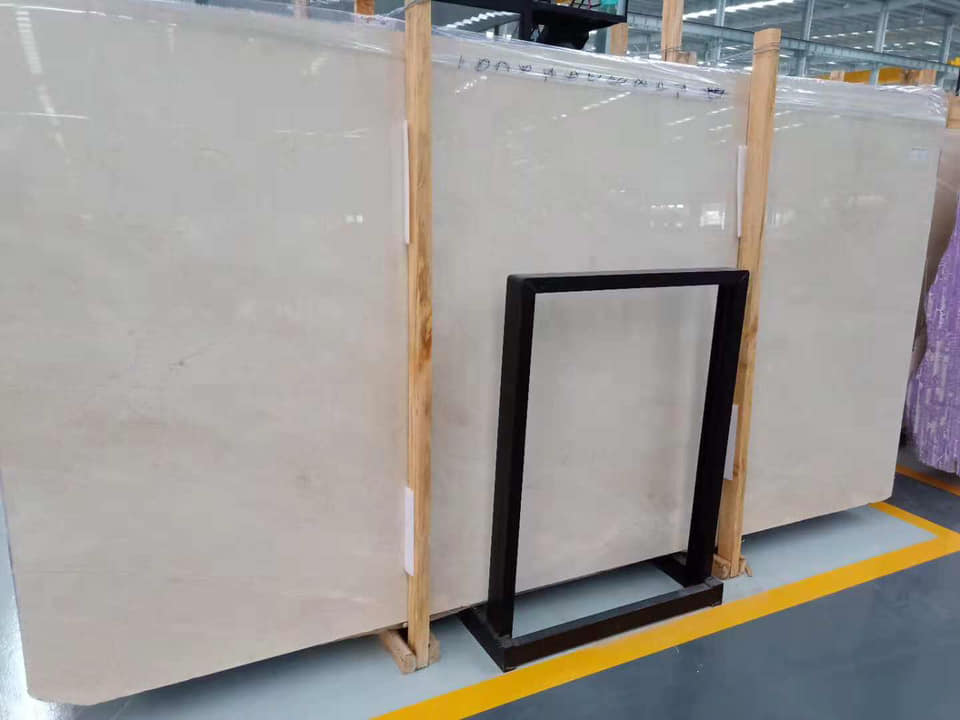 Polished Crema Marfil Beige Marble Slabs with High Quality