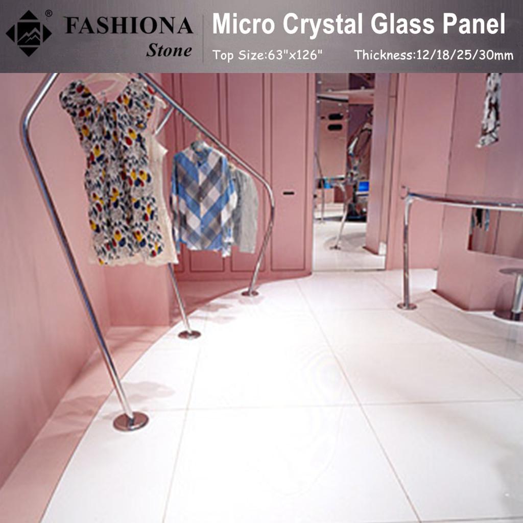 Polished Flooring Tiles Crystal Glass Tiles