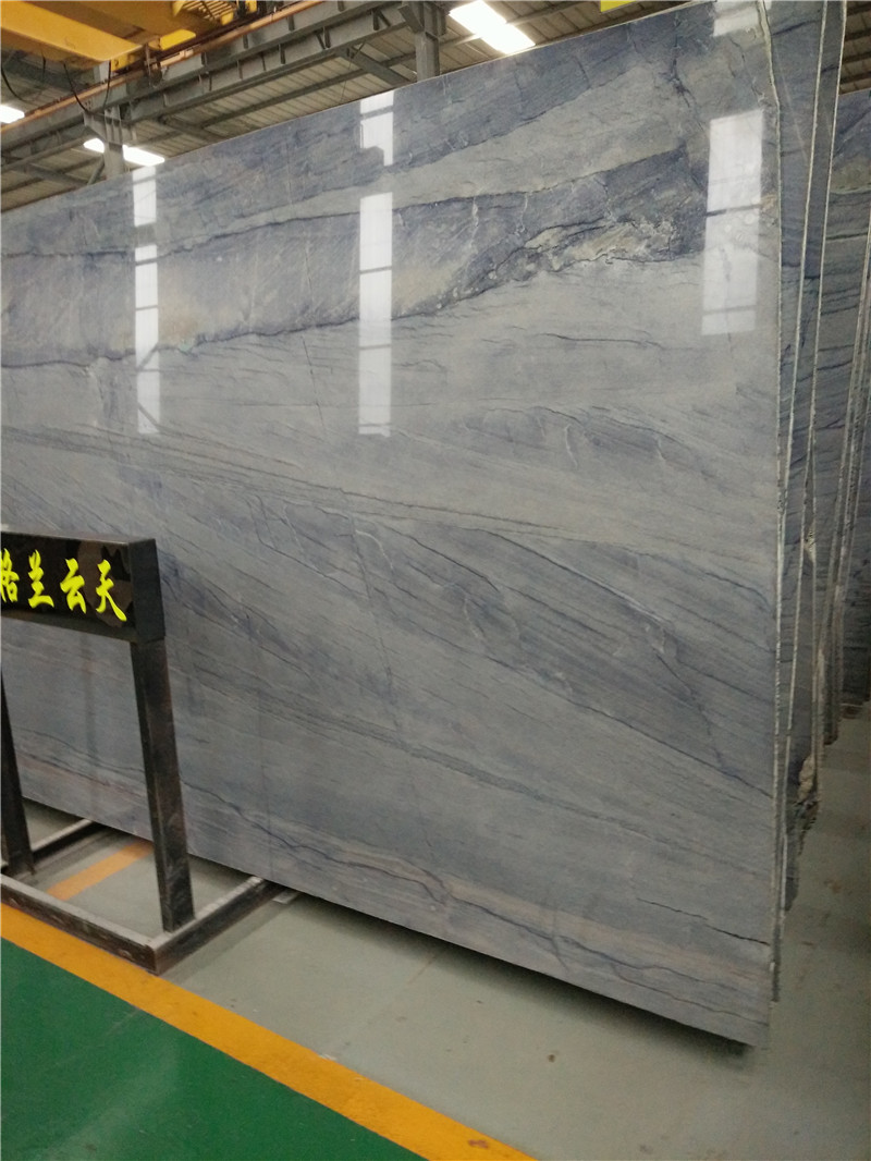 Polished Gloria Sky Quartzite Slabs Blue Natural Slabs