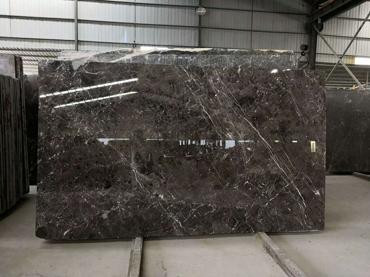 Polished Golden Net Marble Slabs Coffee Net Marble