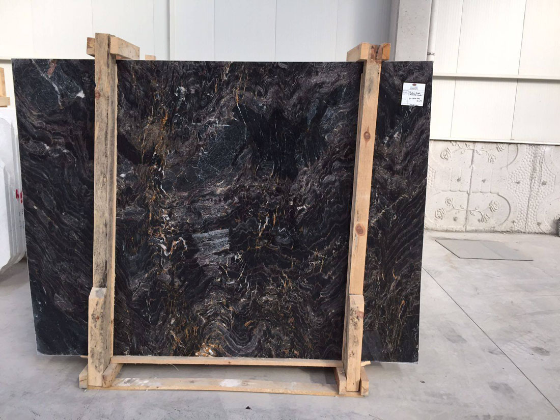 Polished Golden River Marble Slabs