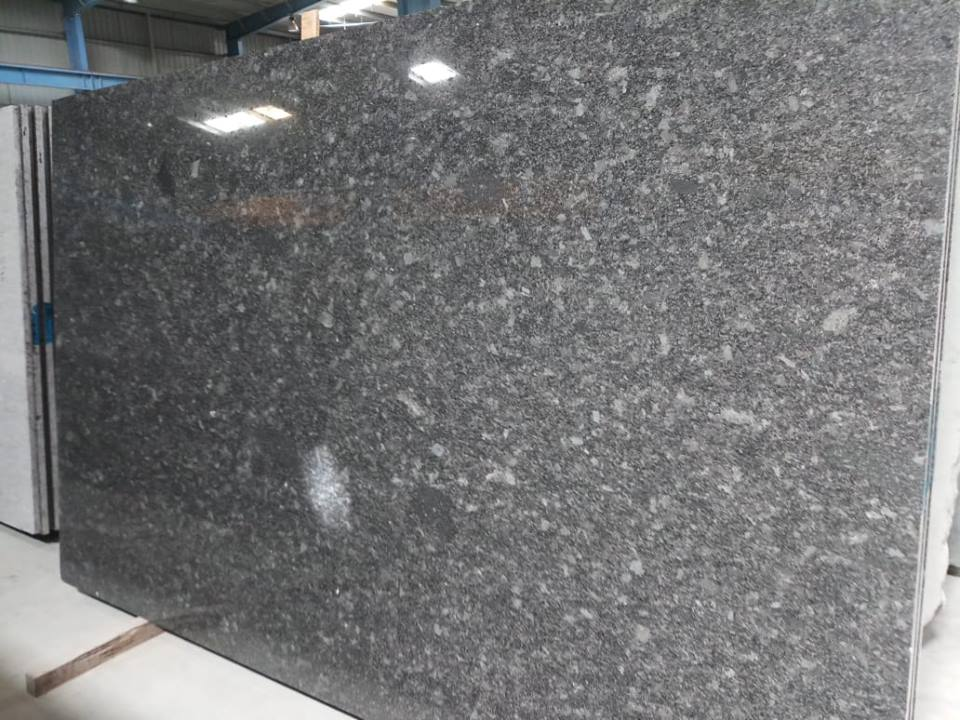 Polished Granite Slabs Steel Grey Granite Slabs