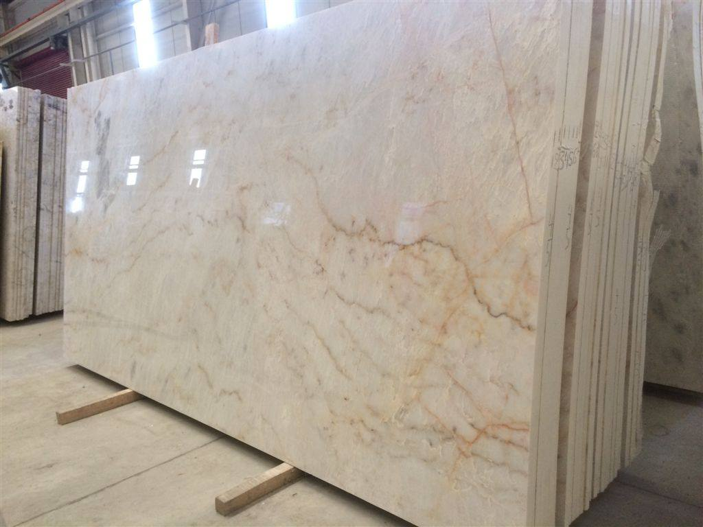 Polished Greek Yellow Whitish Marble Slabs