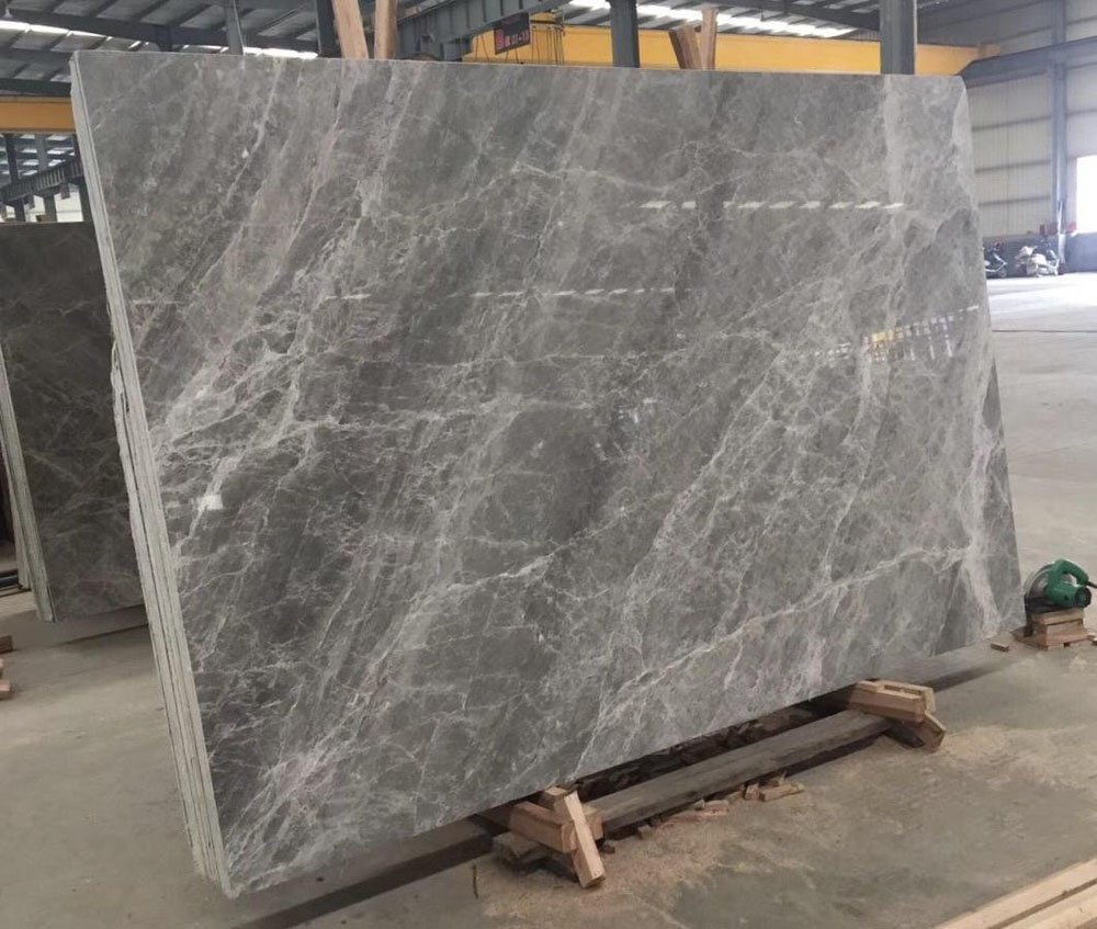 Polished Grey Marble Silver Emperador