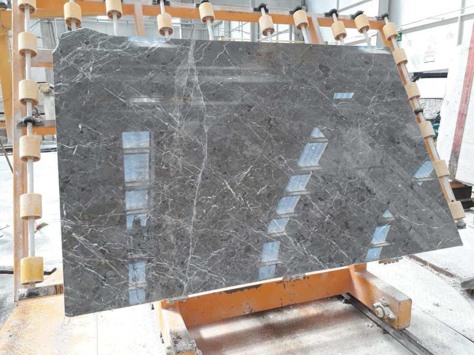 Polished Grey Marble Slabs Royal Grey Slabs