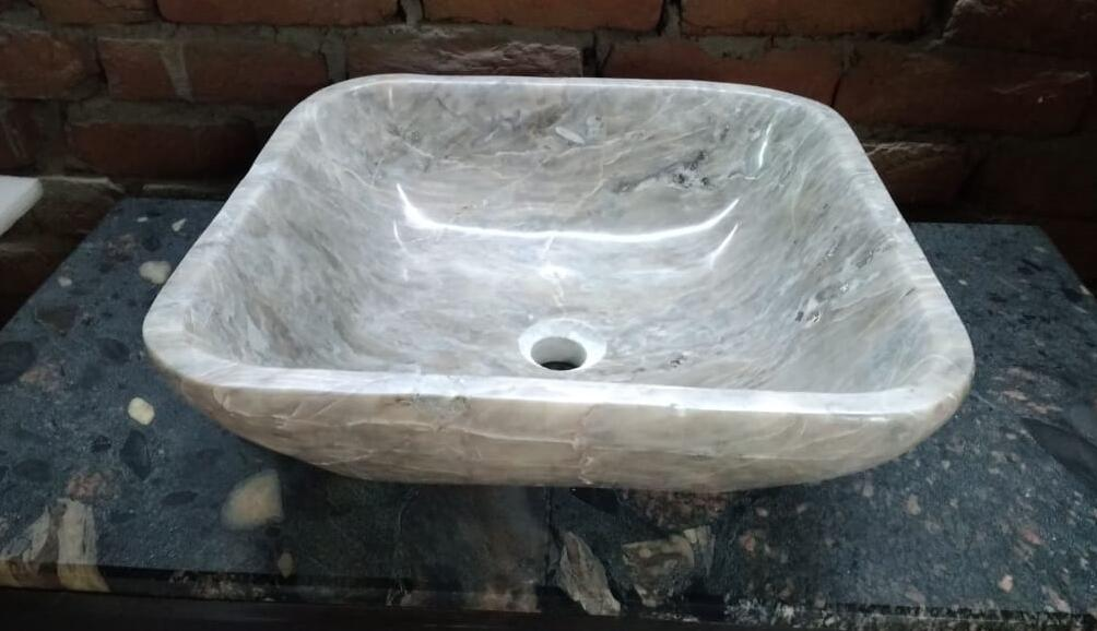 Polished Grey Marble Stone Sinks